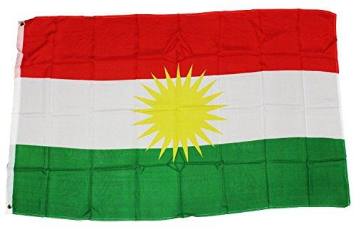 Creation Gross Fahne Flagge Kurdistan 0,90m x 1,50m mit Metallösen zum Aufhängen (0520830)