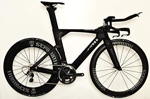 Stradalli Full Carbon Triathlon Bike, Black Shimano Ultegra 8000,...
