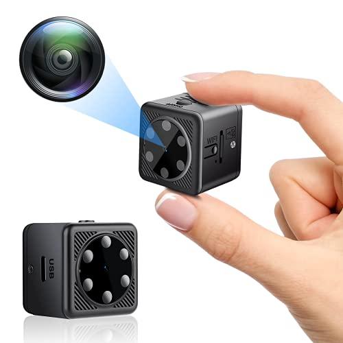Mini Cámaras Espía, Igzyz P2P Cámara 1080P HD Portátil Mini Cámara de Seguridad (10 Metros), Cámara de Vigilancia con Visión Nocturna