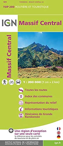 Massif Central 1:200 000
