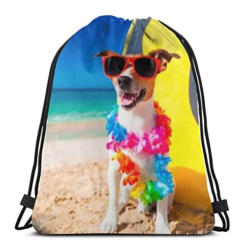 Tienda asequible Perros divertidos Russell Terrier Gafas con cordón Mochila Deporte Bolsas Cinch Tote Bolsas Para Viajar Y Almacenamiento Para Hombres Y Mujeres 17x14 Pulgadas