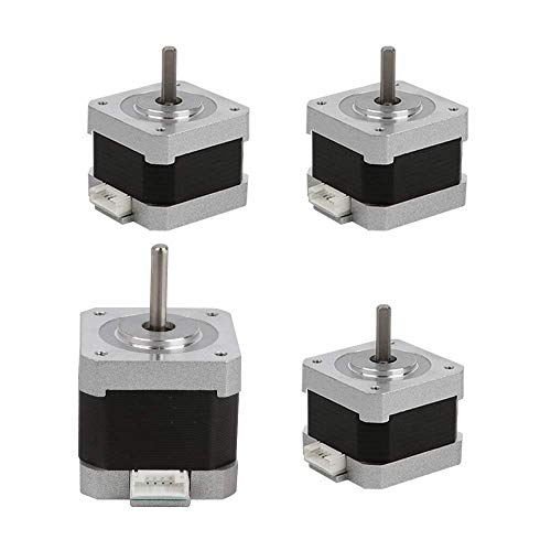 Creality Schrittmotor / Stepper Motor Original für 3D-Drucker 42 – 40 / 1 Stück und 42 – 34 / 3 Stück 2 Phasen 0,8 A 1,8 Grad 0,4 N.M für den Ersatz von CNC-Zubehör für 3D-Drucker DIY, 4 Stück/Pack