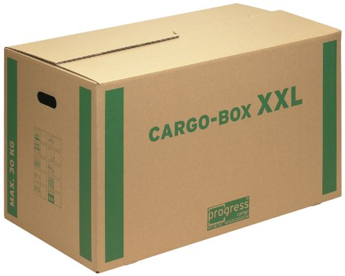 progressCARGO Transport-Umzugskarton, Eco, PC CB01.03, 1-wellig, 750 x 420 x 440 mm, 10-er Pack, braun
