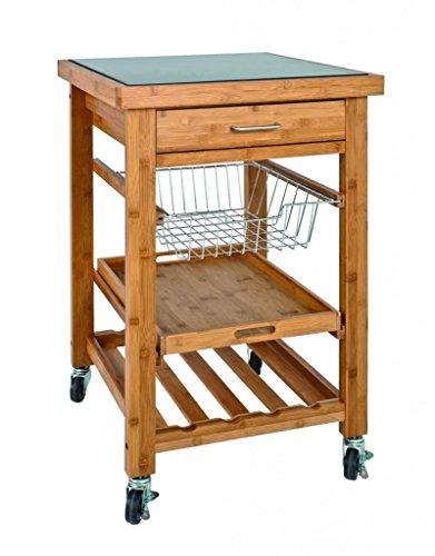 Haku Möbel 29312 Küchenwagen Bambus/Granit