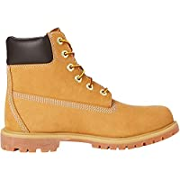 Timberland 6 Inch Premium Waterproof, Botas para Mujer, Amarillo (Wheat Nubuck), 39 EU