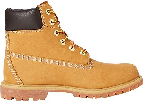 Timberland Damen 6 Zoll Premium wasserdicht Stiefel, Gelb (Wheat Nubuck), 41 EU