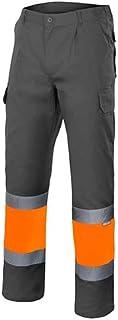 Velilla 156 Taglie XL Pantaloni alta visibilit/à colore blu marino e giallo fluo