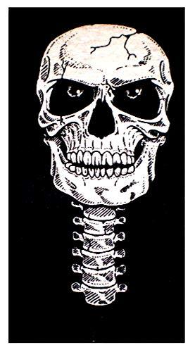 Evil Wear Herren Damen Motiv-Tücher Schal Fasching Karneval Halloween Biker Maske: Color: schwarz Joker rot