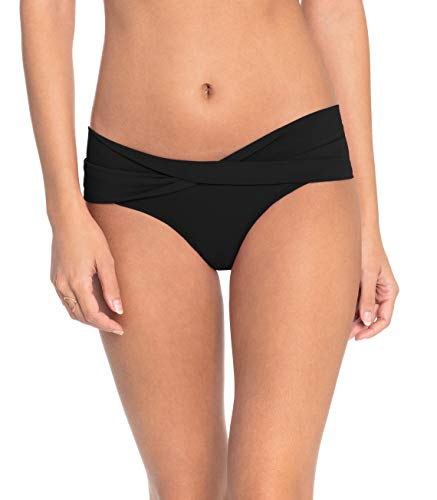 Robin Piccone Women's Ava Twist Bikini Bottom, Black, M