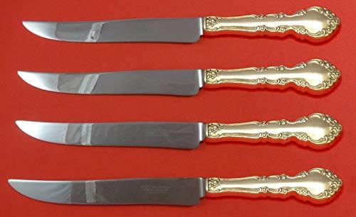 Grandeur by Oneida Sterling Silver Steak Knife Set 4pc Large Texas Sized Custom