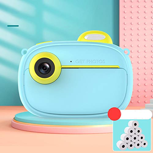 XIN XIN Kinderkamera Sofortbildkamera Fotodruckbares Digitales Spielzeug Hochauflösendes Tragbares Geschenk Für Grundschüler 1200 Mah Kapazität 1080P HD-Video 40 Millionen Pixel