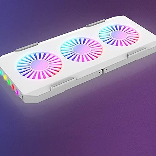 SEHNL Refrigerador portátil de Juego 3 Fan RGB Luz 450 0RPM Potente Soporte de coagulación Plegable portátil de Flujo de Aire portátil
