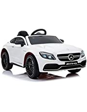 RaceWinner Mercedes C63 AMG Lisenced 12v Ride on Kids Electric Car With Remote White