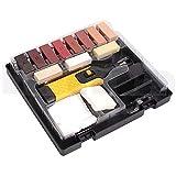 Juego de Reparación de Suelos 16 piezas con Cera de 11 Colores - Juego de Reparación de Superficies de Madera, Kit de Reparación de Suelos Laminados
