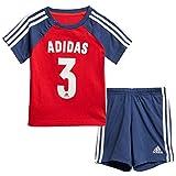 [アディダス(adidas)] ベビー サマー NUMBERTシャツ&ハーフパンツセット GUO75 FM6398 Vレッド/Tインディゴ 80
