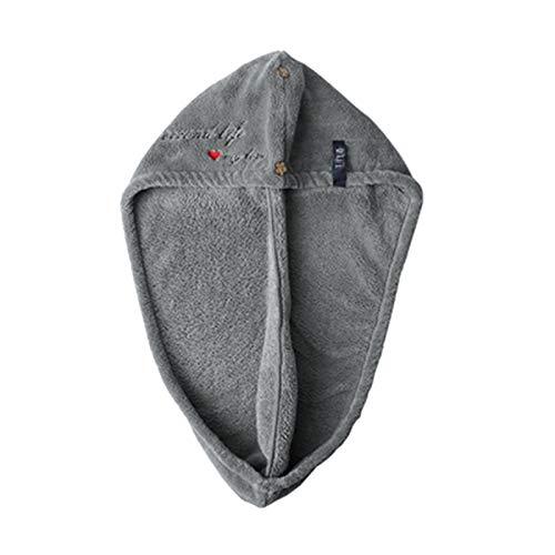WFF Sombrero Toalla de Pelo de Secado rápido mágico, espesante de Toalla de Cabello de Microfibra de Doble Capa con Exquisito Bordado, Sombrero de Pelo seco para Mujeres niñas Gorro de puntogorra