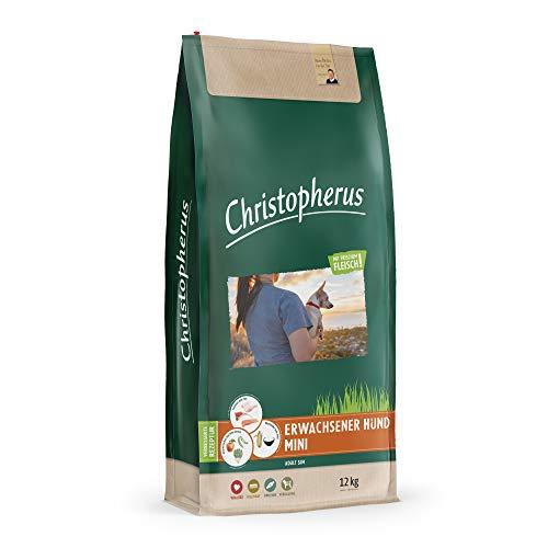 Christopherus Volwassen mini, volvoeding voor volwassen honden met normale tot verhoogde activiteit, droogvoer, gevogelte, lam, ei, rijst, gereduceerde krokettengrootte, volwassenen hond, 12 kg