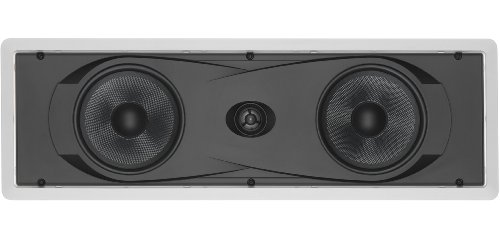 "Yamaha In-Wall 150 watts Natural Sound 2-Way Speaker with 1"" Titanium Dome Swivel Tweeter & Dual 6-1/2"" Kevlar Cone Woofers for Enhanced Center Channel, Plasma LCD Big Screen TV or any Home Theater System"