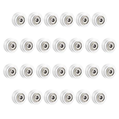 SIMAX3D, 26 pulegge in policarbonato, 625 denti, ruota in plastica, ruota passiva, rotonda, compatibile con stampanti 3D, serie Creality Ender 3, Ender 5 CR-10/10S [26 pezzi]