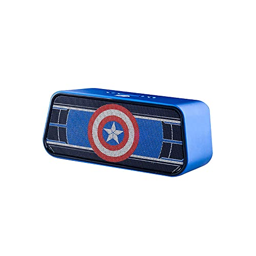 Pièces Altavoz Bluetooth De La Textura De Marvel Matte, Doble De 40 Mm De 40 Mm 1500mah Altavoces Inalámbricos 360 ° HD Micrófono Básico Potente, para iPhone iPad Tablet Smartphone(Color:A)