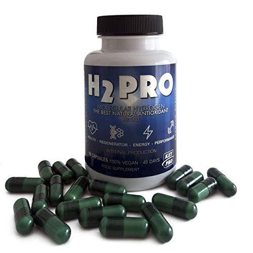 HIDRÓGENO MOLECULAR H2 Mejora El Rendimiento En General. ANTIOXIDANTE. Mejora el Estado De La Piel, Acelera los Procesos de Recuperación Física y Mental. 90 cápsulas Vegetales/Keypro Nutrition