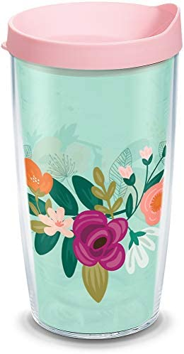 Tervis 1339143 Neo Mint Floral Insulated Tumbler 16oz Clear Tritan product image