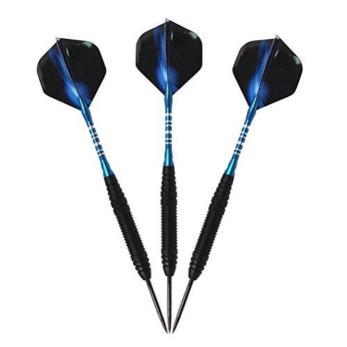 Xbai 3 Teile/Satz 22g professioneller weiche Spitze dartsdart Set Dart Nadel Box stangenblatt for elektronische Dartboard zubehör Geschenk (Color : Blue)