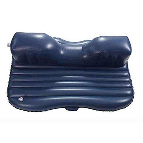Zixin Auto-Reisebett, Auto Bed Auto Luftmatratze Reisebett Aufblasbare Luftmatratze aufblasbare Auto-Rücksitzabdeckung Inflatable 2 Air-Luft-Kissen (Color : C1 Black)