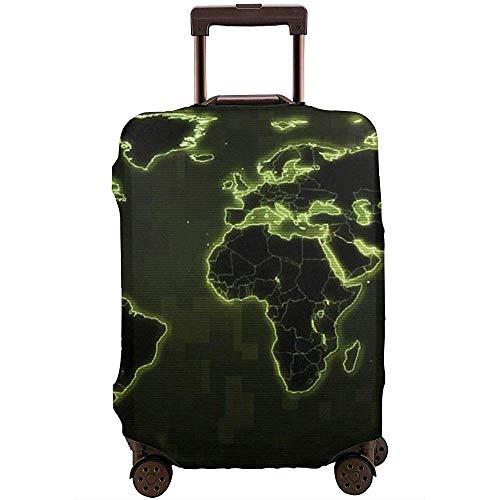 Earth World Map Art Funda de Equipaje de Viaje Protector de Maleta elástico Polvo...