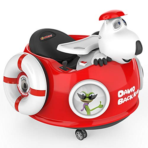 HOVER HEART Bernard Bear Ride-On Toy Electric Scooter 6V/4.5Ah with LED Light, Music Speaker and Remote Control for Kids (Red 01)