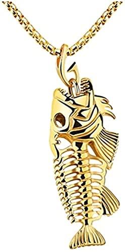NC198 Moda Creativa Metal FishPendant Collar Hip Hop Style Surfer Jewelry