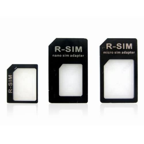 per iPhone 5 Nano SIM Card Adapter Nero