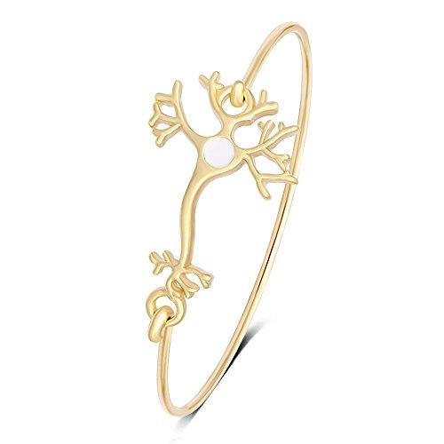 MANZHEN Neuron Nerve Cell Science Bangle Bracelet Hook Opening Bracelet