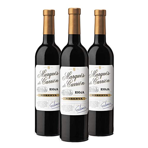 Marqués de Carrión Reserva - Vino Tinto D.O Rioja - Caja de 3 Botellas x 750 ml