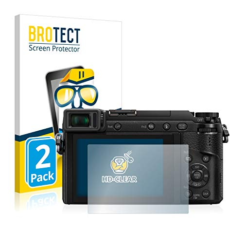 brotect 2-Pièces Protection Ecran Compatible avec Panasonic Lumix DMC-GX80 - Film Protection Ultra Clair