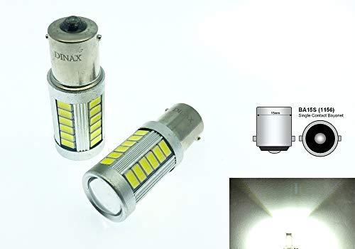 TMT LEDS(TM) Lot de 2 ampoules Canbus LED BA15S 1156 P21W avec 18 LED SMD 5050 Blanc Feux de recul, de position, de frein, clignotants, anti-brouillard pour voiture/moto