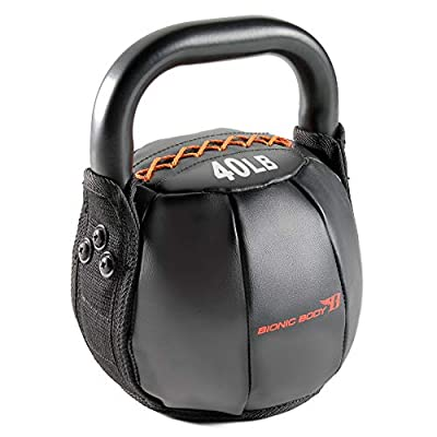 Bionic Body Soft Kettlebell with Handle for Weightlifting, Conditioning, Strength and core Training 40lb BBKB-40 from Impex-Fitness