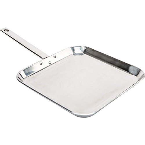 Chef's Secret KTGRIDTp T304 Stainless-Steel 11-Inch Square Griddle, Ideal for Grilling and Presenting Your Favorite Creations