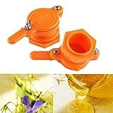 Arzja 2 Pezzi Apicoltura Porta Dell'Estrattore, Honey Bucket Valve, Commestibile Honey Tap per Apicoltore