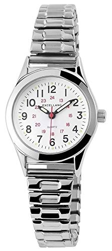 Excellanc Damen-Uhr Edelstahl Zugband Silberfarbend Analog 1700025-001