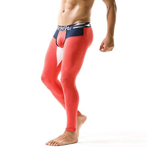 Invierno para Hombre Ropa Interior Térmica Cálida Moda Algodón Hombres Long Johns Thermo Underwear Hombre Long Johns-Rojo_Metro