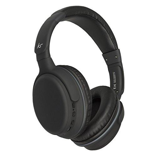 KitSound ksslamrbk Slammer - Kopfhörer (Ohrumschließend, Kopfband, Verkabelt & Kabellos, Bluetooth, 20-20000 Hz, Schwarz)