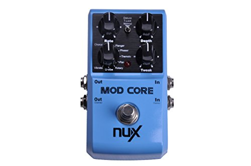 NUX Mod Core Guitar Effect Pedal 8 Modulation Effects Preset Tone Lock