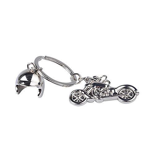 Gereton Harley Motorrad Helm Metall Schlüsselanhänger Kreativ Herren Geschenk Schlüsselanhänger Laser