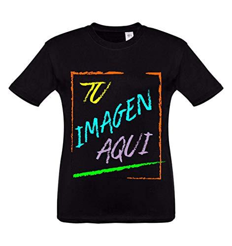 Oneroi Custom Camiseta Infantil Personalizada con Foto y Texto, t-Shirt Personalizable con imagenes y Texto (Negro, 12A)