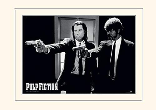 Pyramid International Pulp Fiction Guns Mounted Print Memorabilia 30 x 40cm Paper Multicoloured product image
