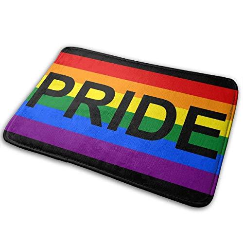 Klotr Badteppich, Badezimmerteppich, WC-Sitzbezug, rutschfeste Fußmatte, LGBT Gay Pride, rutschfeste Matte, Teppich, 60 x 40 cm