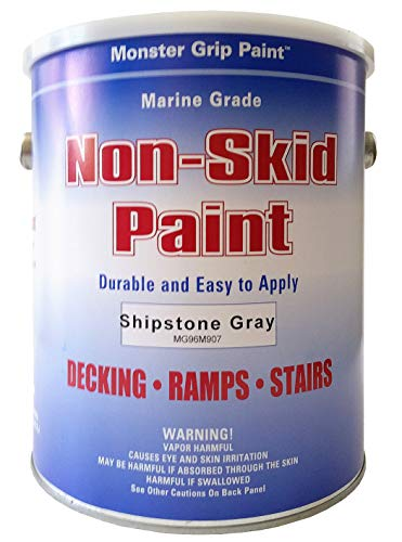 Non-Skid Paint Marine Epoxy with Grit (1 Gallon, Shipstone Gray)