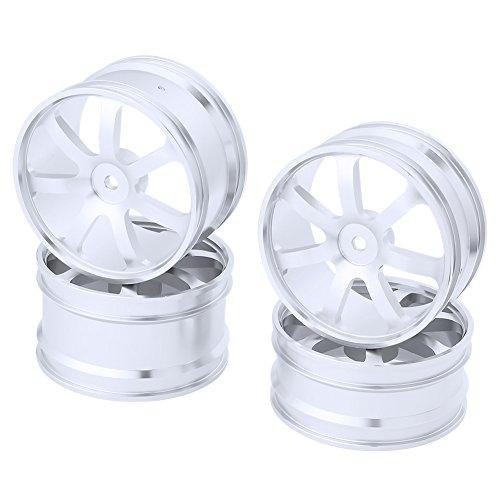 Hobbypark 4PCS Front & Rear Aluminum Wheel Rims 12mm Hex Hub Diameter:62mm 7 Spokes CNC for HSP Redcat Shockwave / Tornado Epx (PRO) / S30 1/10 Off Road Buggy