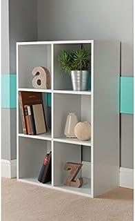 6cubo estantería–blanco DVD libros estantes de almacenamiento de CD